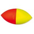 galleggiante scorrevole ovale rosso e giallo