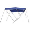 tendalino parasole in tessuto blu in acciaio inox